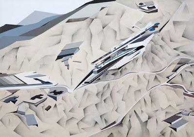 Peak painting by Zaha Hadid