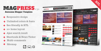 MAGPRESS Premium Blogger Template