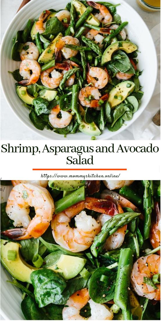 Shrimp, Asparagus and Avocado Salad #vegetarian #saladrecipe