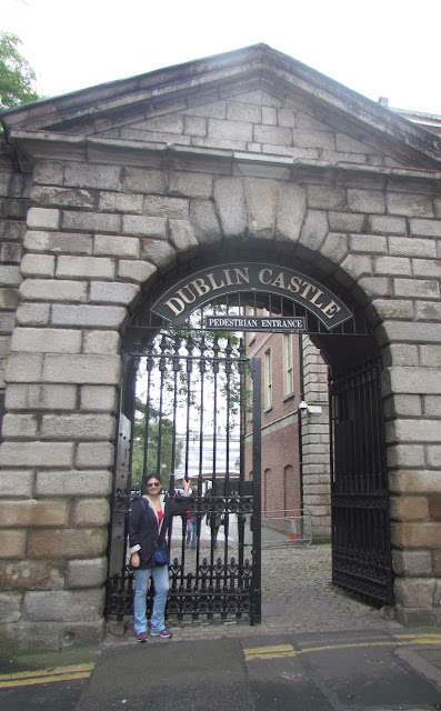 Entrada do Castelo de Dublin.