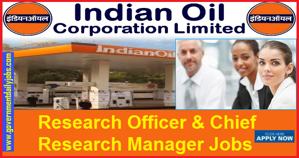 IOCL Jobs 2019: 25 Research Officer & Chief Research Manager Jobs