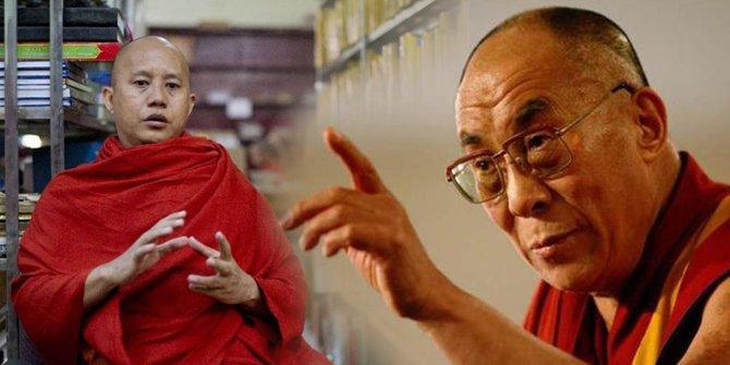 Biksu Garis Keras Wirathu yang Penuh Kebencian dan Dalai Lama yang Welas Asih Pada Rohingya
