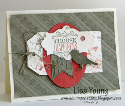 Stampin' Up! Choose Happiness stamp set. Handmade card by Lisa Young, Add Ink and Stamp
