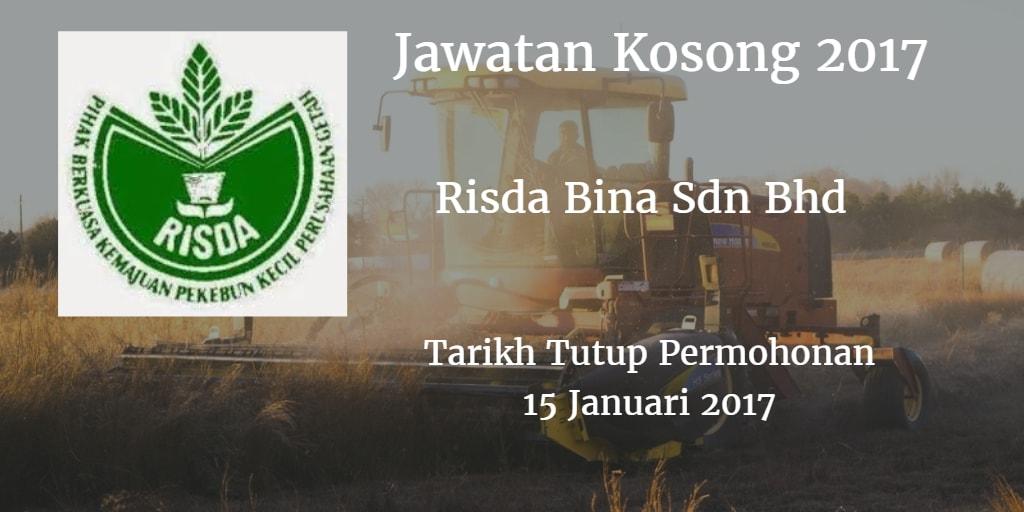 Jawatan Kosong Risda Bina Sdn Bhd 15 Januari 2017