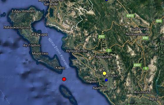 Θεσπρωτία: Δύο σεισμικές δονήσεις τα ξημερώματα και πριν λίγα λεπτά