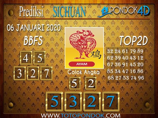 Prediksi Togel SICHUAN PONDOK4D 06 JANUARI 2020