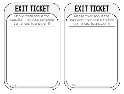 exit ticket printable pdf