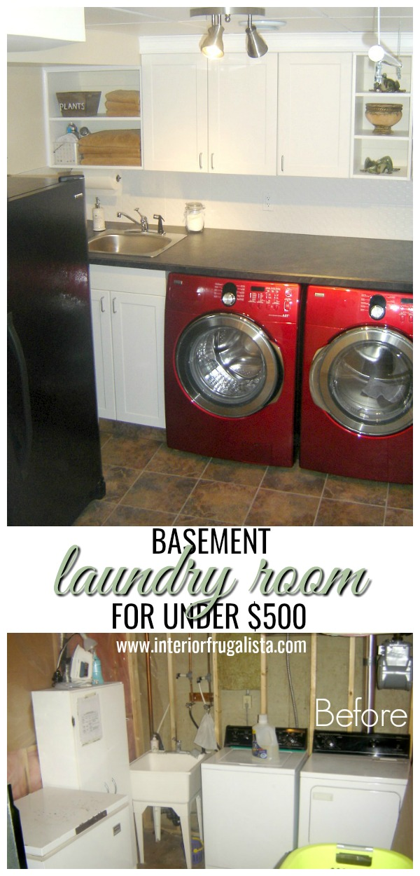 Basement Laundry Room On A $500 Budget