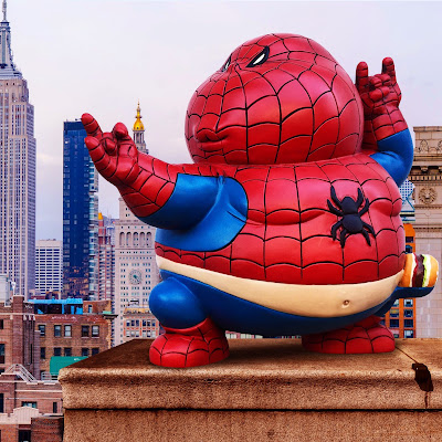 Marvel's Spider-Man Inspired Chunky Spidey Resin Figure by Alex Solis