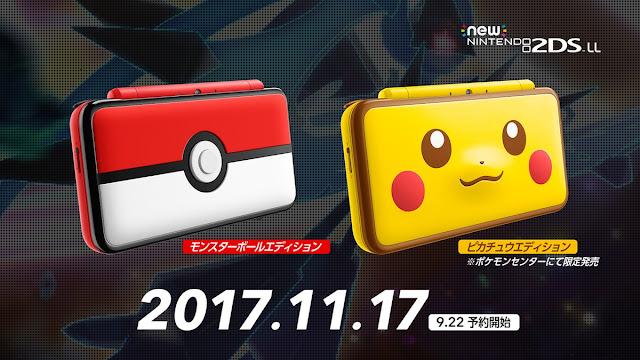 Espectaculares ediciones New Nintendo 2DS XL de Pikachu y Pokéball