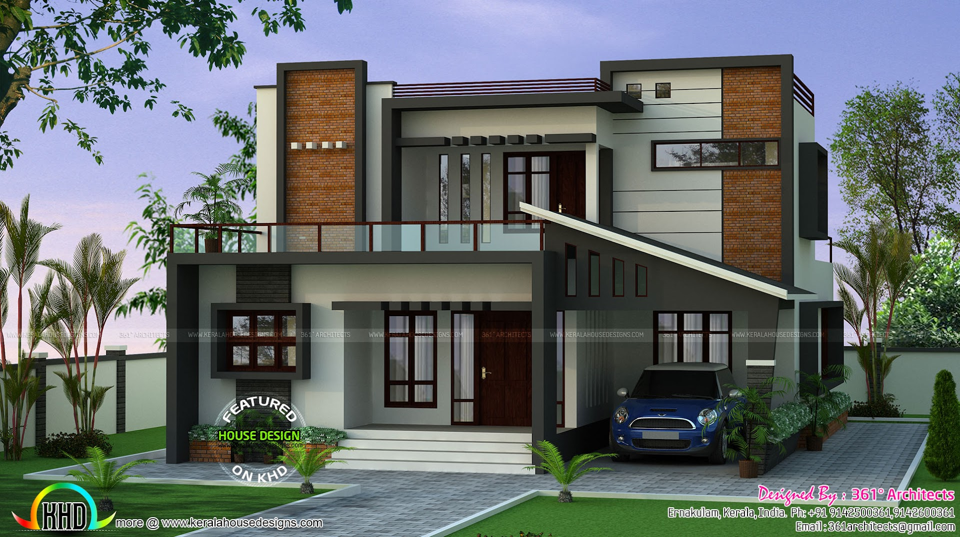 March 2017 kerala home design and floor plans for Contemporary style home plans