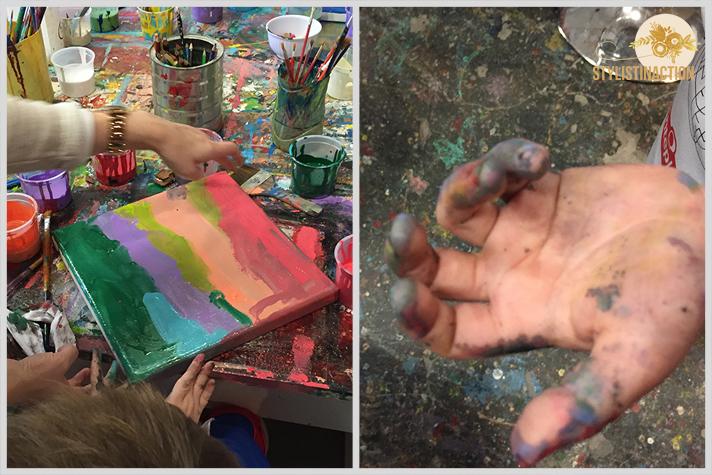 Tarde de pintura para chicos en el taller de Milo Lockett