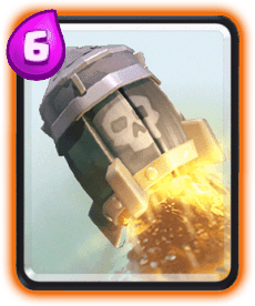 Carta do Foguete do Clash Royale