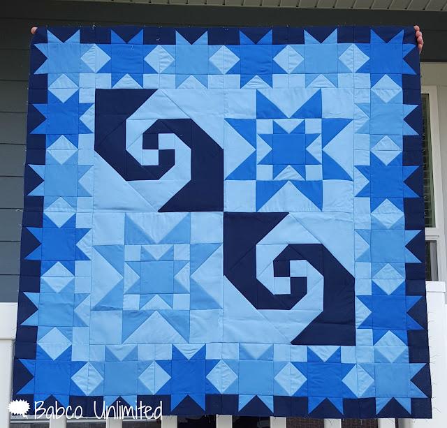 BabcoUnlimited.blogspot.com - Mystery Quilt, Blue Quilt, Modern Quilt
