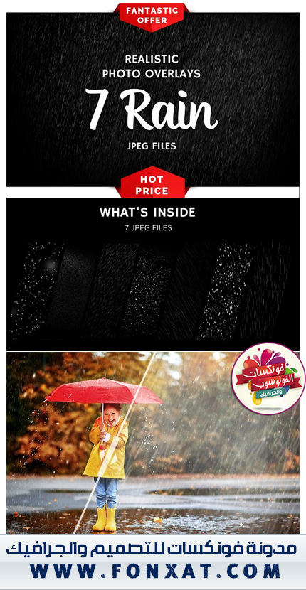 7 Rain Photo Overlays