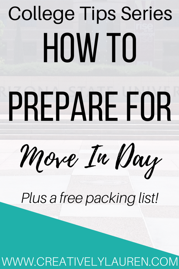 How to Prepare for Move In Day