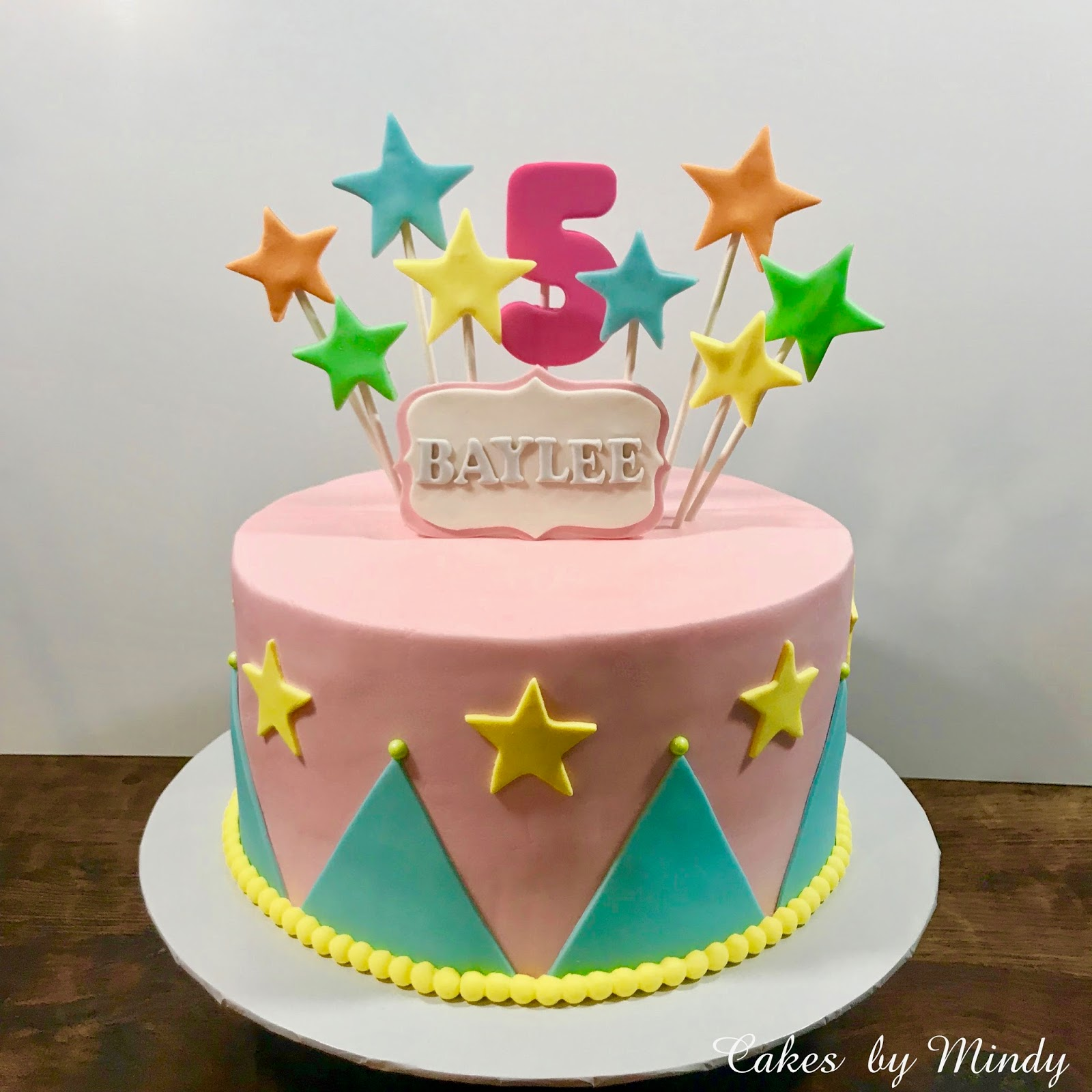 Cakes by Mindy: Pastel Circus Cake 10\