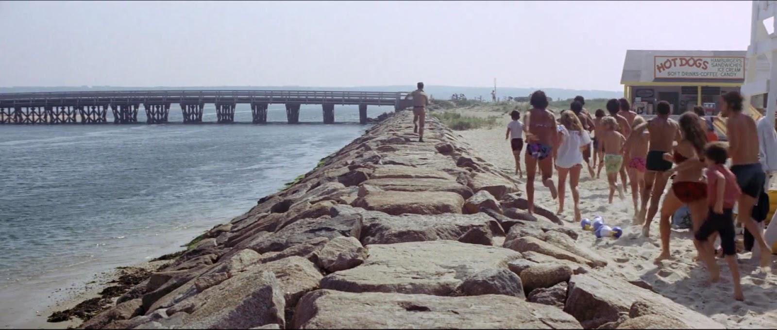 Image result for jaws ellen running over bridge