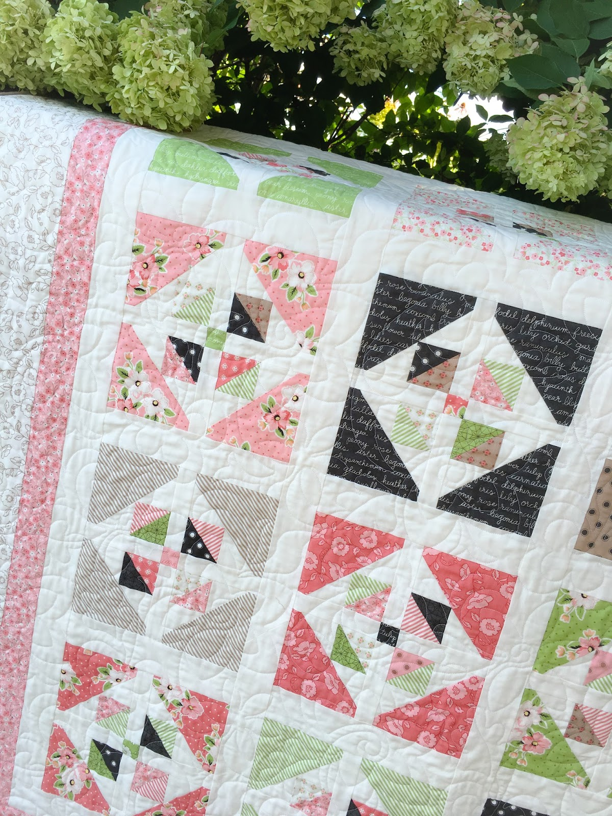 Carried away quilting mini charm pack tutorial on point pillow with olive 39 s flower market for Country garden 6 pack