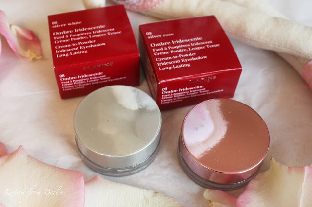 clarins cream eyeshadows silver rose, silver white