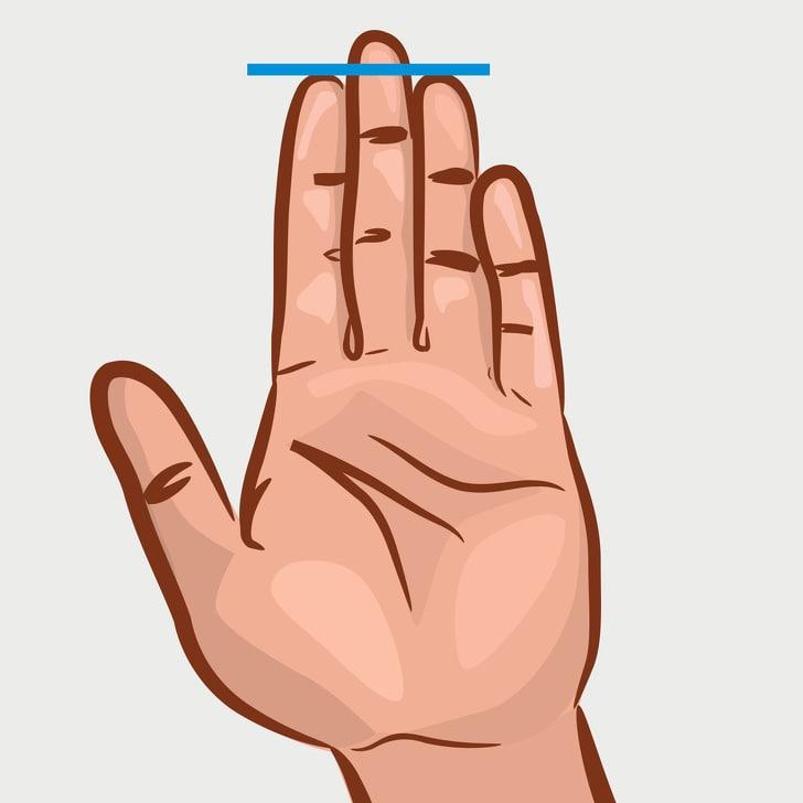 Jari telunjuk dan jari manis memiliki panjang yang sama