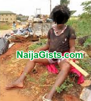 mad woman beats up baby ebonyi state