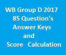 WB Group D Answer Key and Score card