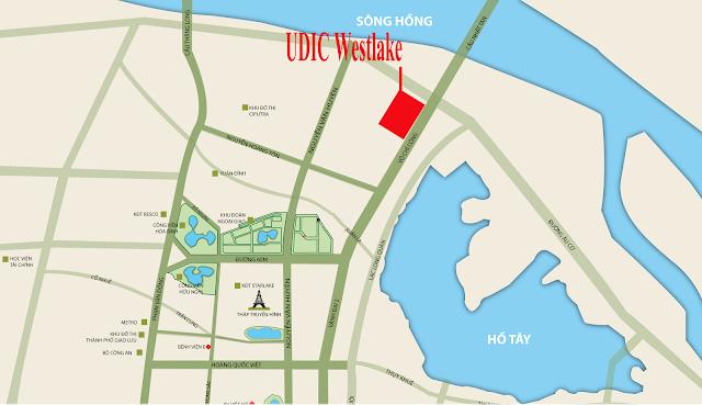 Vị trí dự án chung cư UDIC Westlake