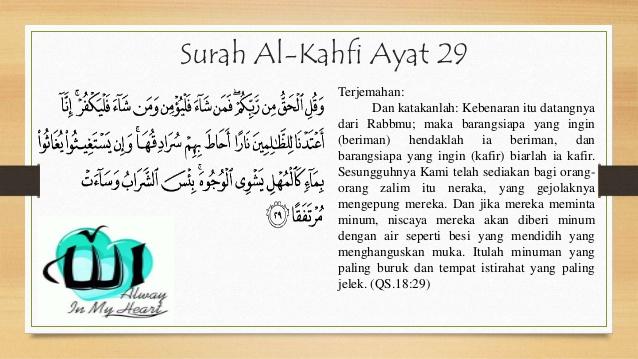 Kandungan Qsal Kahfi Ayat 29