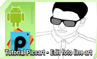 cara edit foto line art picsart