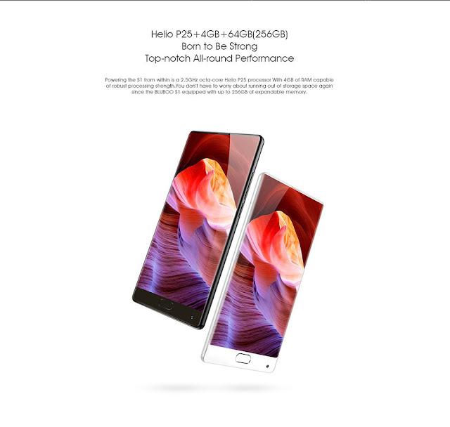 Bluboo S1 هاتف بمواصفات رائعة وثمن منخفض كاميرتين 13MP وقارئ بصمة و 64 جيغا مساحة تخزين ..
