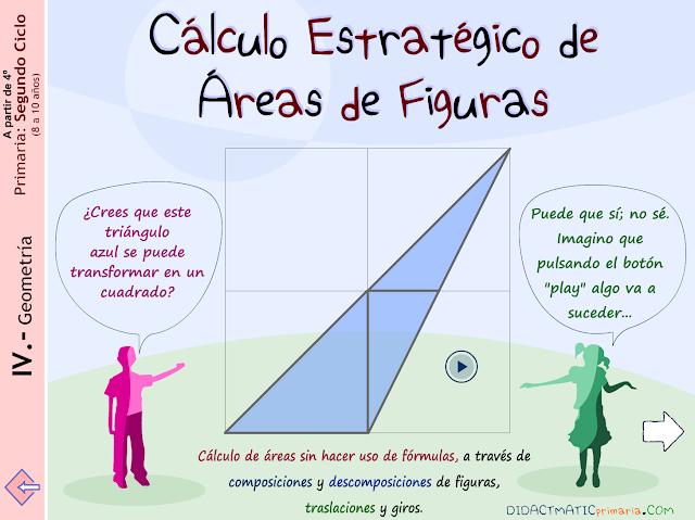 Cálculo estratégico de áreas.