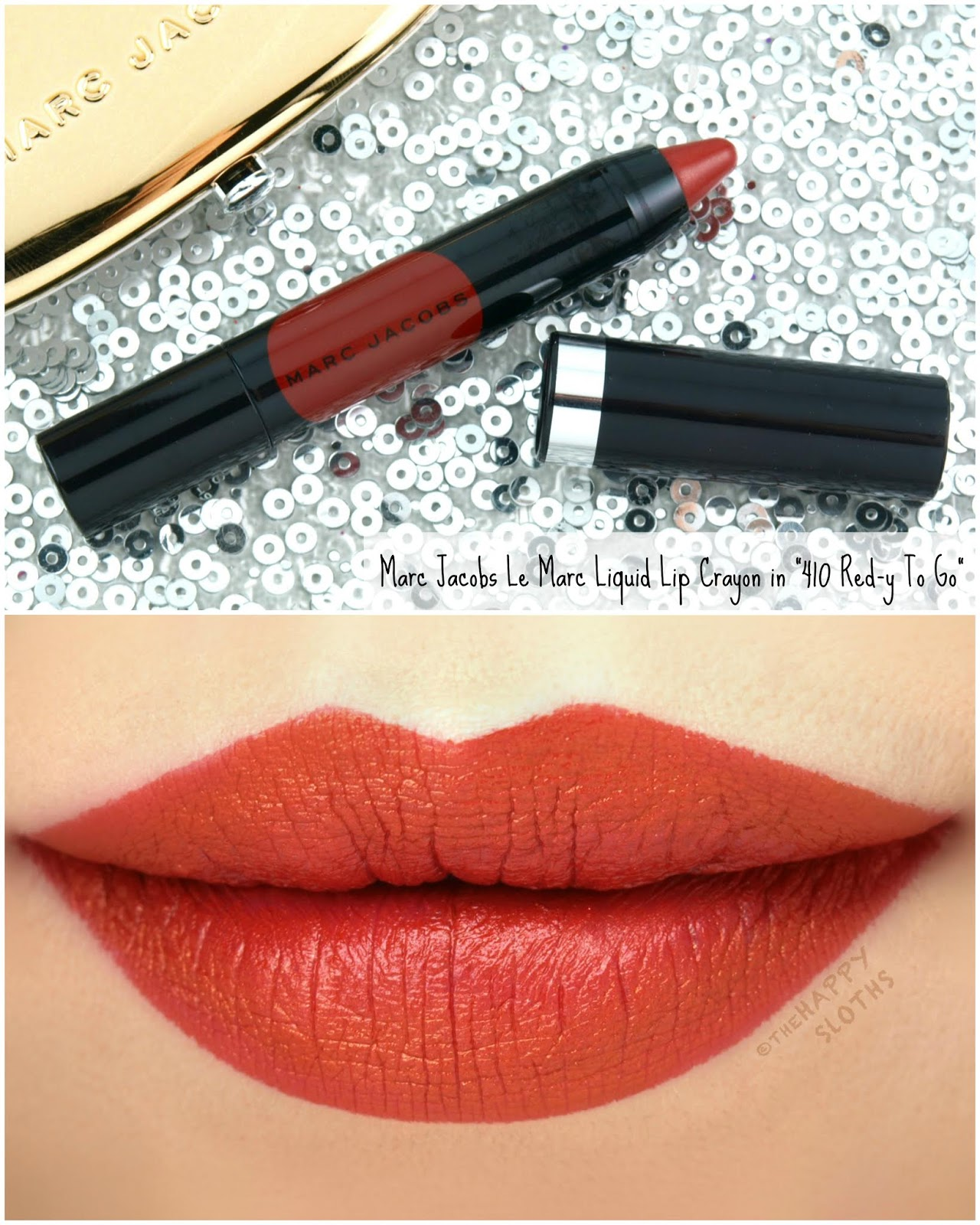 "Marc Jacobs | Le Marc Liquid Lip Crayon in ""410 Red-y To Go"": Review and Swatches"