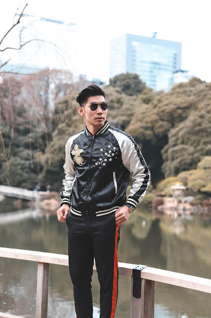 Levitate Style - How To Wear Embroidered Souvenir Jacket | Spring Menswear Outfit, Gucci Sneakers