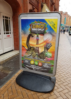 Dino Mini Golf course at the Blackpool Tower