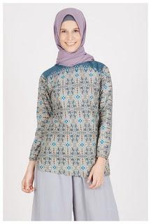 Model busana batik muslim elegan sederhana