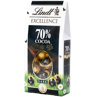 lindt excellence 70% dark chocolate eggs