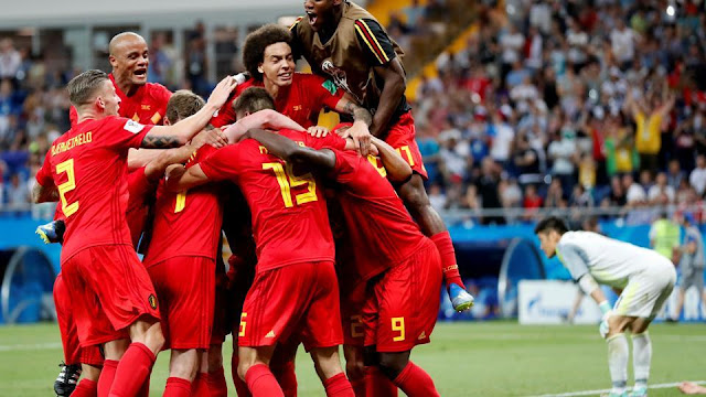 Belgium score late winner against Japan