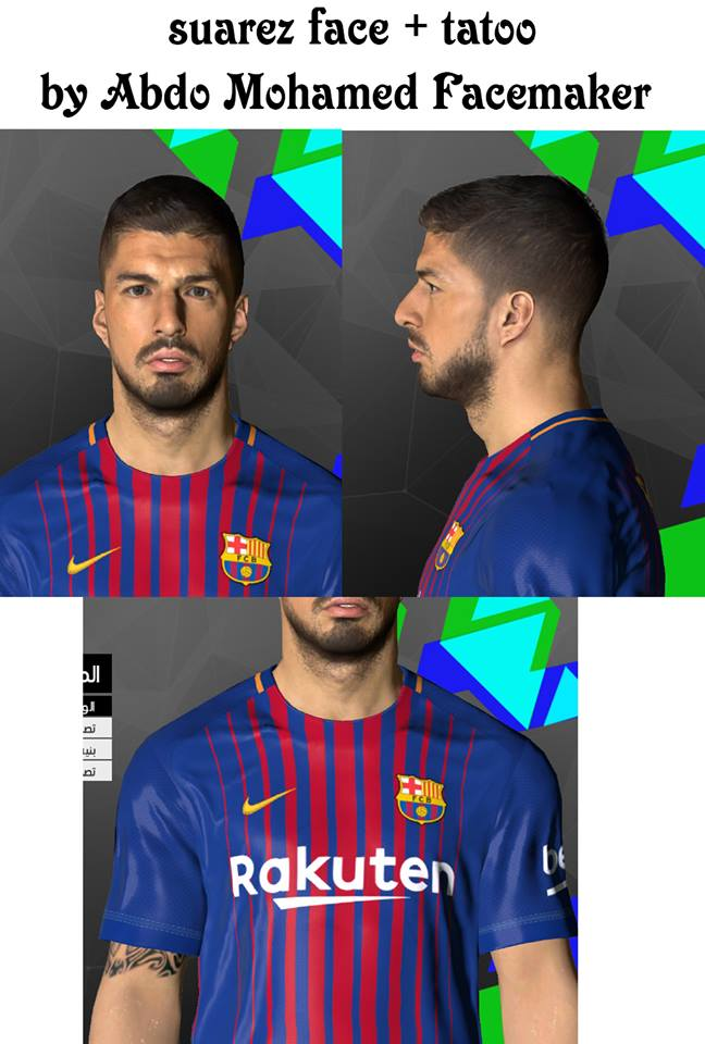PES 2017 L. Suarez Face by Abdo Mohamed Facemaker