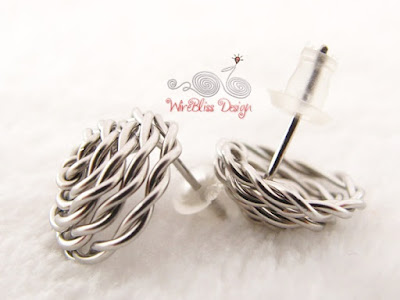 Non-Soldered Wire Wrapped Rose Stud Earrings by WireBliss