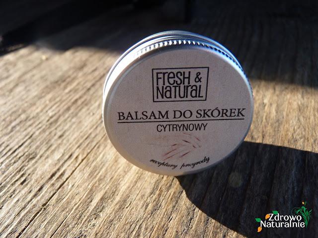 Fresh & Natural - CYTRYNOWY balsam do skórek i paznokci