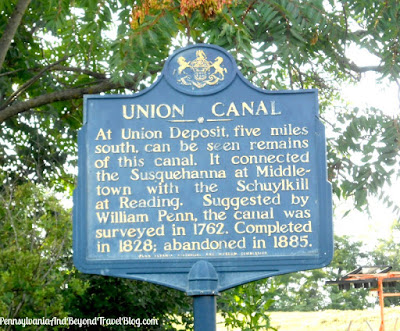 Union Canal Historical Marker near Harrisburg Pennsylvania