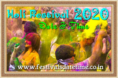 Holi 2020 Date & Time in India- Dol Purnima 2020 Bengali Festival Date & Time - HAPPY HOLI 2020