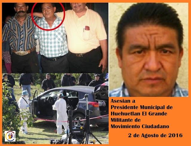 Asesinan a Presidente Municipal de Huehuetlan el Grande