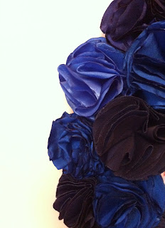 mavi lacivert el yapımı gül ayna satın al