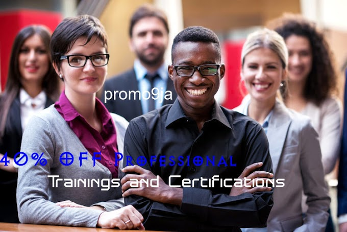 40% OFF Professional Trainings and Certifications