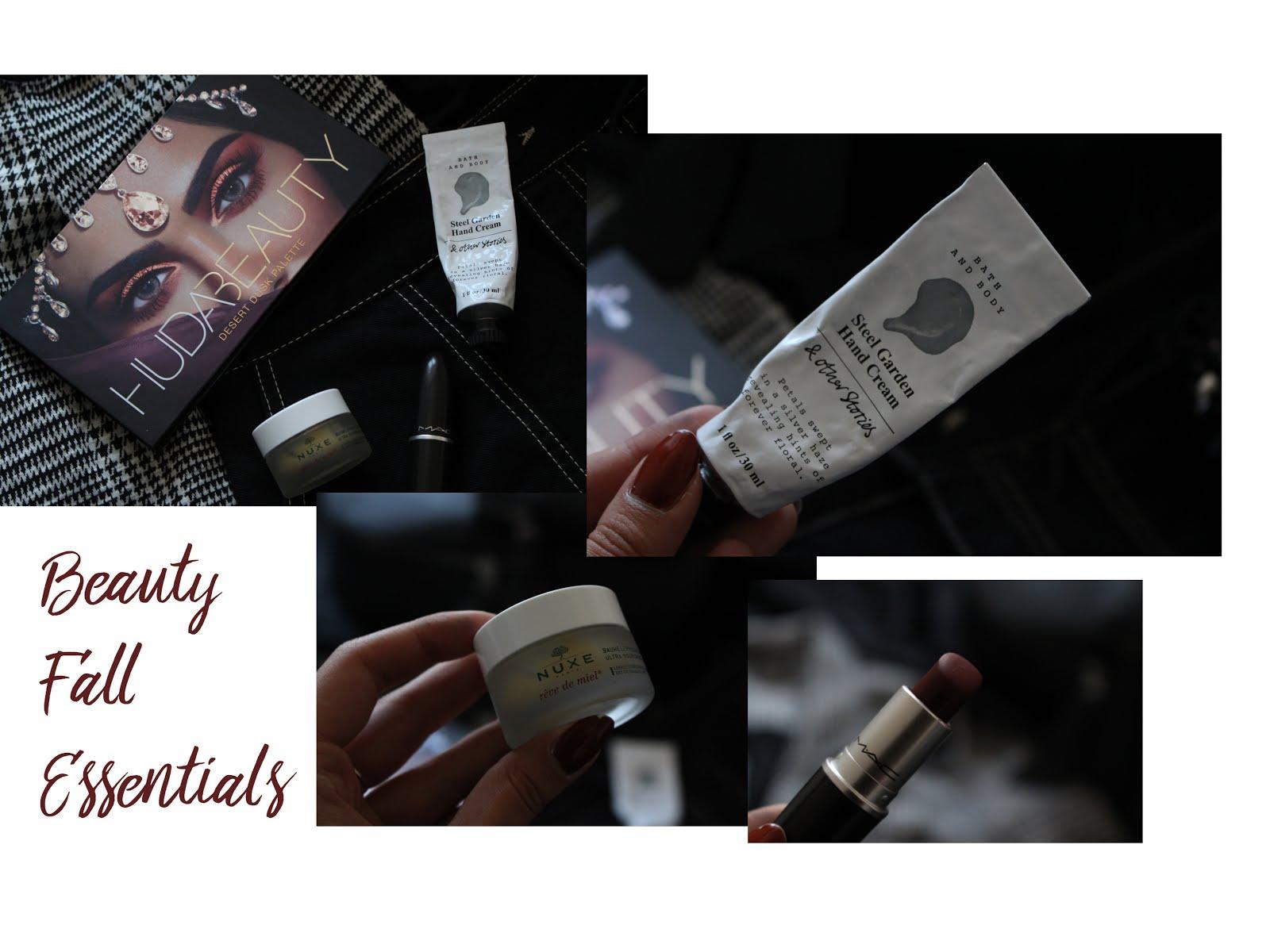 beauty, beauty winter essentials, huda beauty, hued beauty new palette, huda beauty desert dust, mac diva, mac lipstick, nuxe, nuxe lip balm, nelly ray, nelly ray blog, beauty blogger, blogger