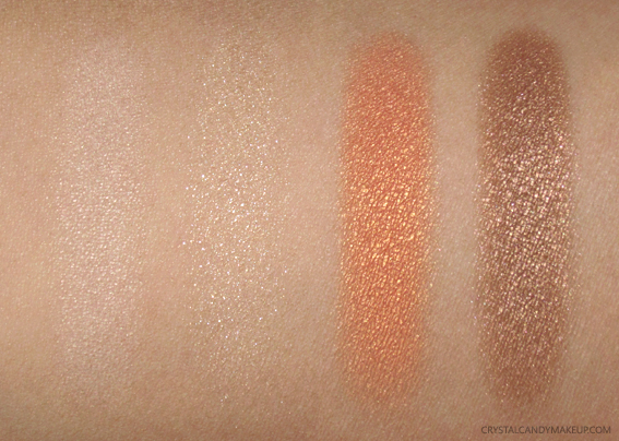 Clarins Sunkissed Summer 2017 Swatches 4-Colour Eyeshadow Palette