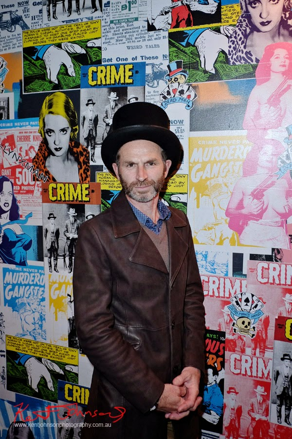 Leather coat and a top hat. Lynx #lynxman relaunch party at WIP BAR Sydney