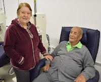 Maria Clementina Rodrigues e o marido José de Souza Manso: expectativa pelo funcionamento da unidade